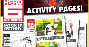 Disney's Big Hero 6 Free Activity Sheets