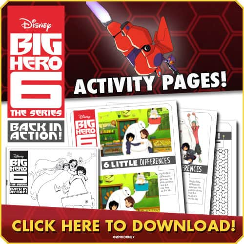 Disney's Big Hero 6 Free Activity Sheets