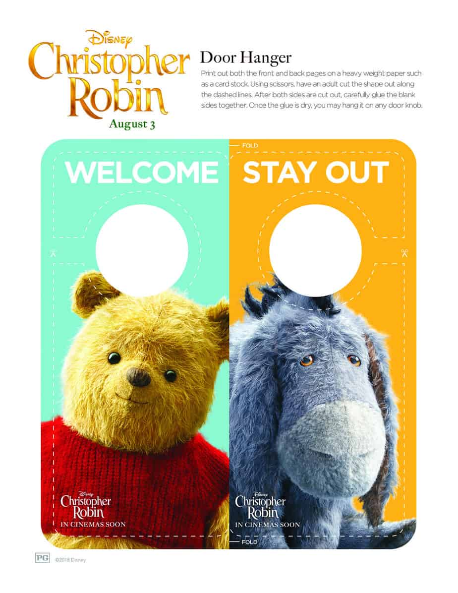 Disney's Christopher Robin Free Coloring Sheets
