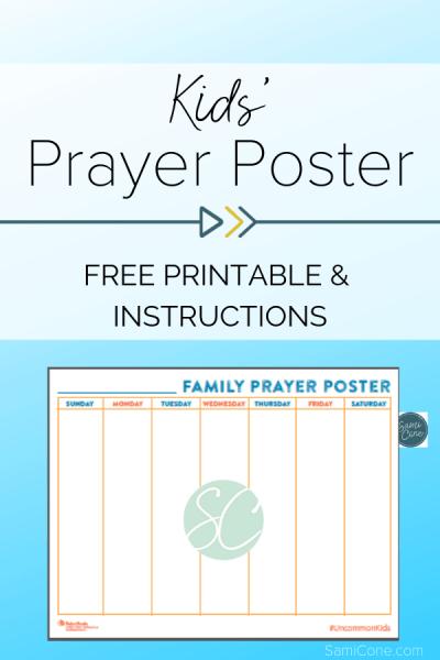 kids prayer poster printable pinterest