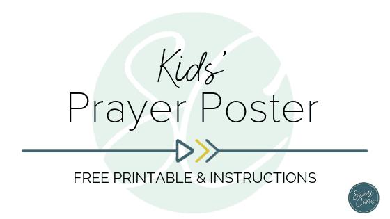 kids prayer poster printable