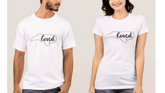 love north carolina tshirts heart
