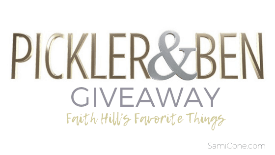 pickler and ben show giveaway faith hill favorite things