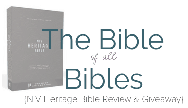 The Bible of all Bibles NIV Heritage Bible Crop