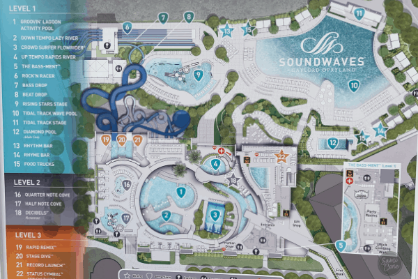 Soundwaves Opryland Nashville Map