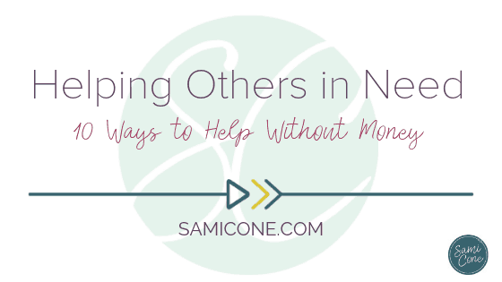 helping others in need without money