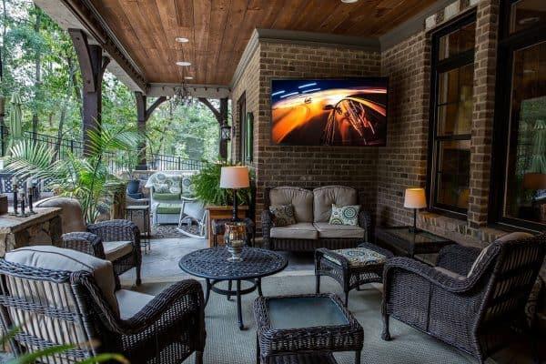 sunbrite outdoor tv living space