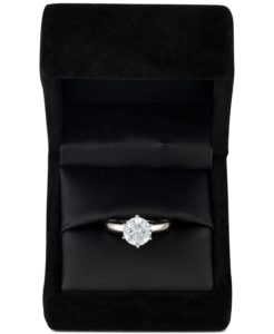 macy's diamond solitaire engagement ring sale