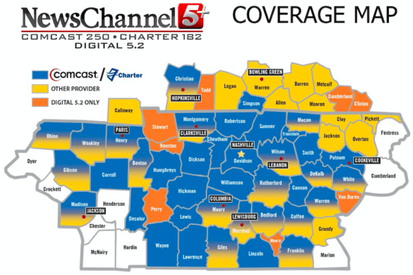 newschannel 5+ coverage map tennessee kentucky
