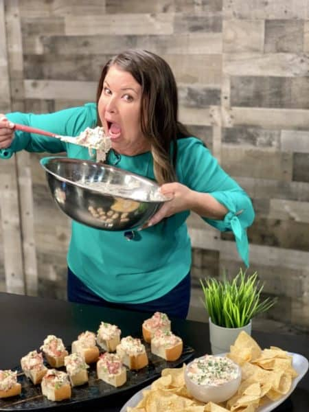 lobster roll dip mixing bowl and spoon on the sami cone show