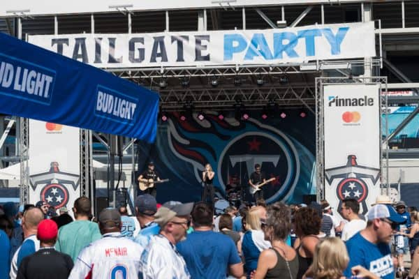 Titans tailgate party