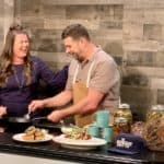 Laughing with Chef Brian Riggenbach making Don't Worry Brie Happy on The Sami Cone Show
