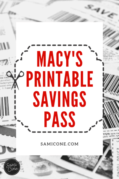 Macys Printable Savings Pass