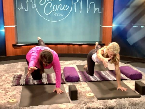balance yoga pose with keleah anderson of abundant yoga on the sami cone show episode 5