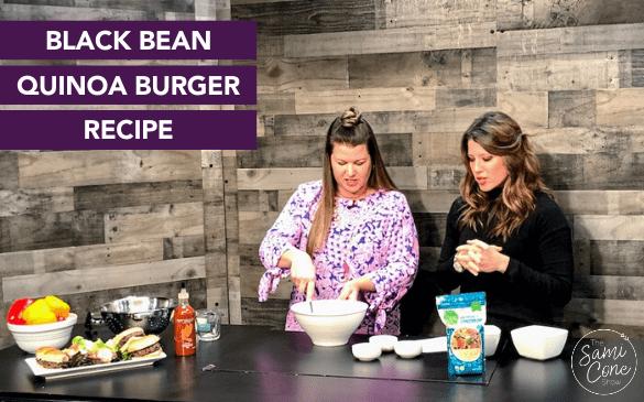 Black Bean Quinoa Burger Recipe Featured Image