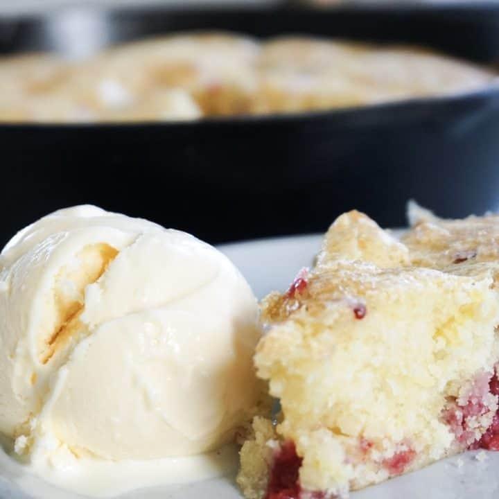 lemon raspberry skillet cake molly reed grayson