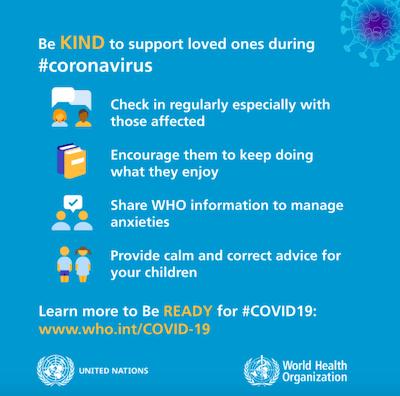 world health organization coronavirus infographic