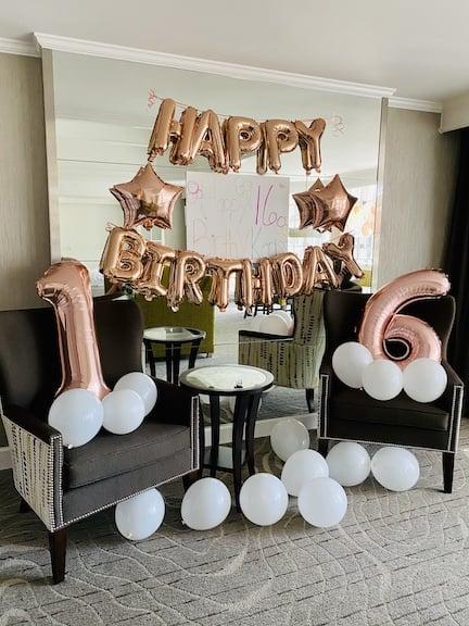 opryland sweet 16 birthday decorations
