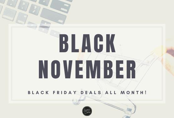 Black November-Black Friday deals all month long