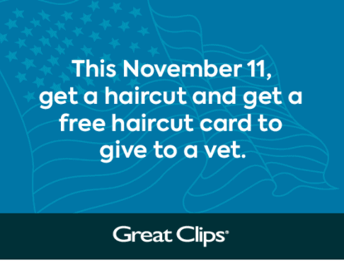 Veterans Day Free Great Clips Haircut