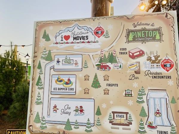 Opryland Pinetop map Christmas 2020