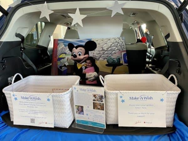Subaru of Gallatin Make a Wish Middle TN trunk letters for Santa
