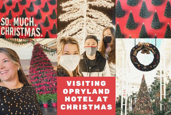 Visiting Opryland Hotel at Christmas