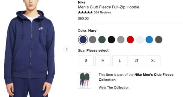 Nike full-zip hoodie for back-to-school; teenage girls trendy outfits